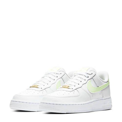 Air Force 1 '07 sneakers wit/geel in 2020 | Nike sneakers ...
