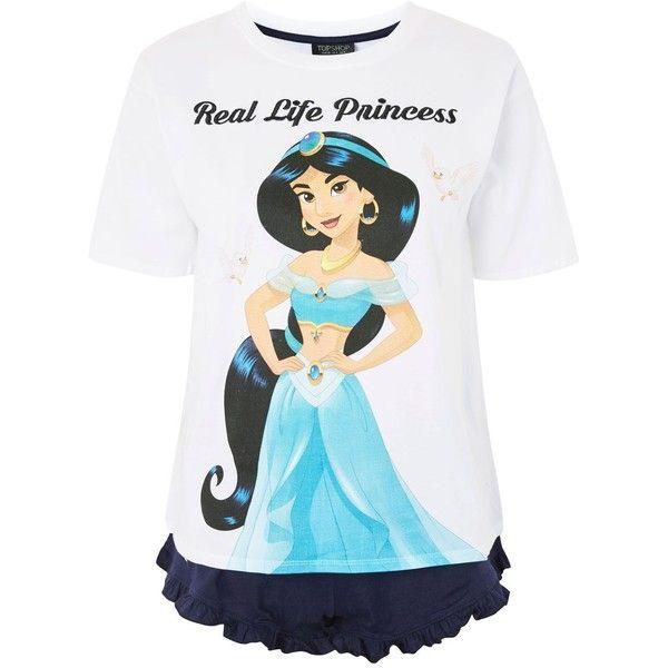 Topshop Princess Jasmine Pyjama Set (100 BRL) ❤ liked on Polyvore featuring intimates, sleepwear, pajamas, cotton pajama set, cotton pyjamas, topshop sleepwear, topshop pyjamas and topshop pjs