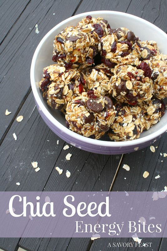 Chia Seed Energy Bites are a great snack to help you refuel. Packed with oats, dark chocolate, dried cranberries and more.