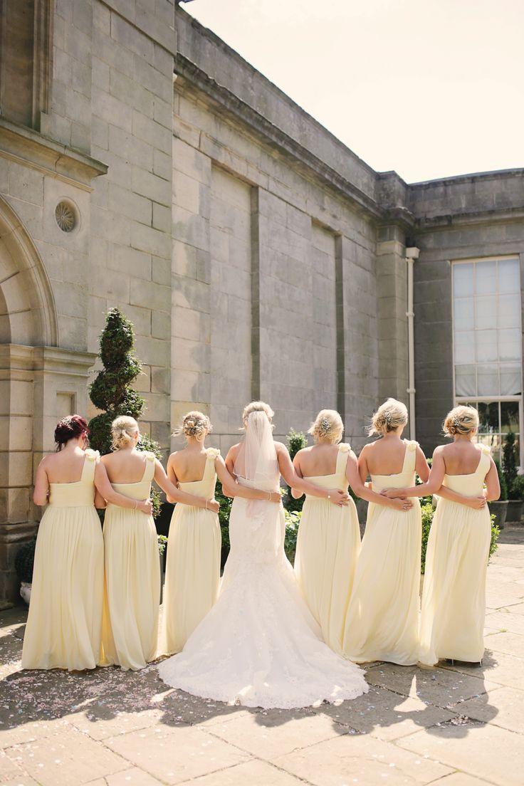Lemon #bridesmaid wedding dresses