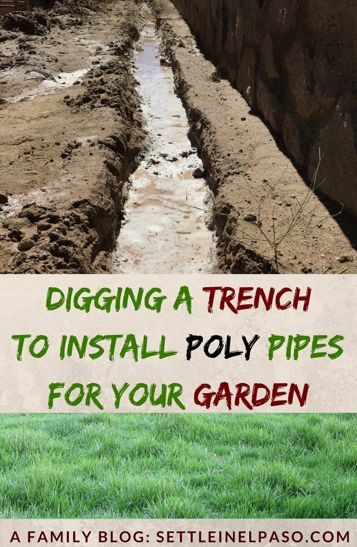 How To Dig A Trench Without A Trencher Digging Tools Drip Line
