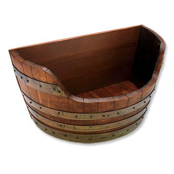wine barrel toy chest for arthur.