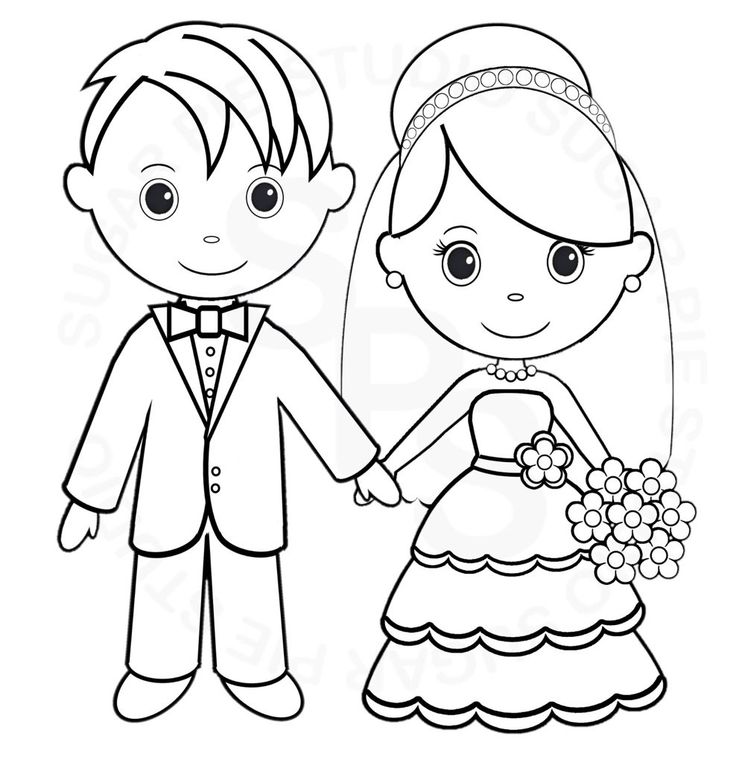 Bride And Groom Skull Coloring Pages Coloring Pages