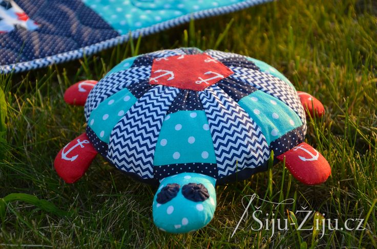 Patchwork toy - turtle / Šiju-Žiju.cz