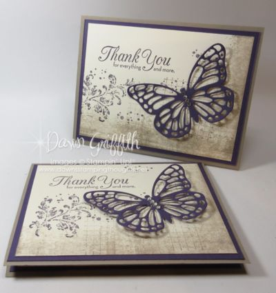 Hi Stampers, Today we will be making this beautiful card . This was one of the Make & Takes we made at my local stamp club this past Saturday But we made it in Island Indigo instead of Elegant Eggplan