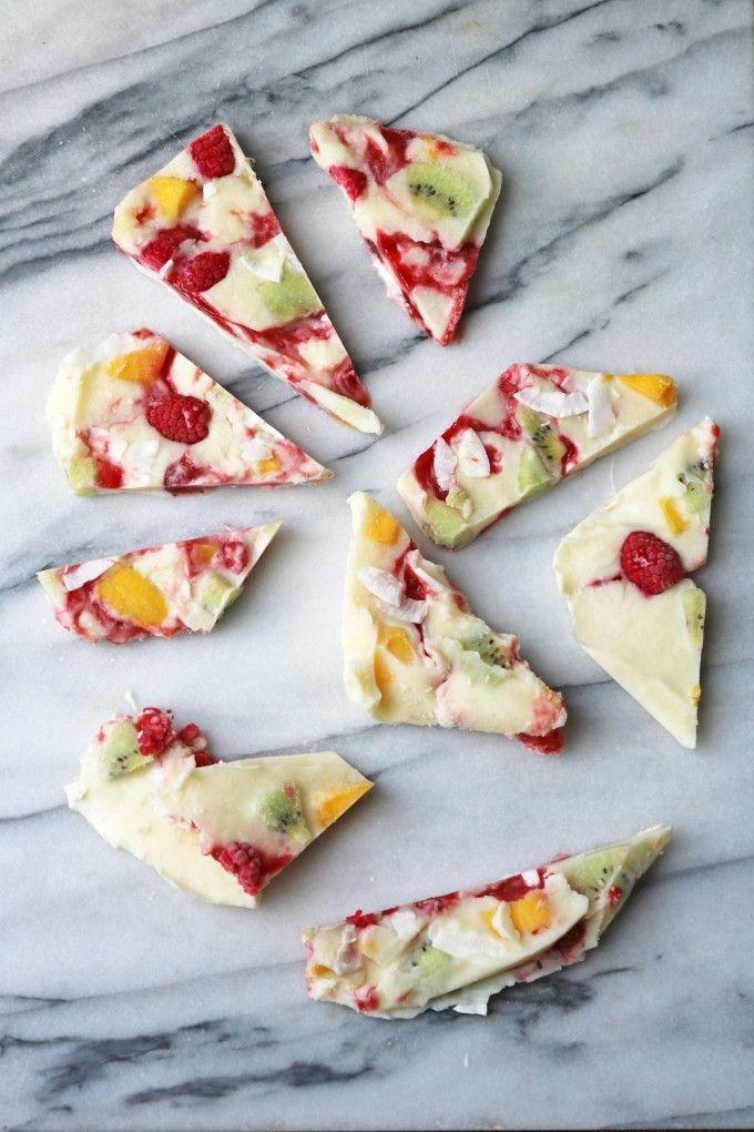 Fruity Frozen Yogurt Bark   Veggie Desserts Blog >>> Frozen yogurt bark is a refreshing, fun snack for adults and kids. It's a great way to cool down on hot days. >>> veggiedesserts.co.uk