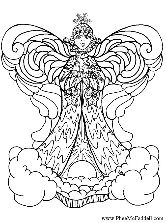 coloring pages of angels wings - photo#25