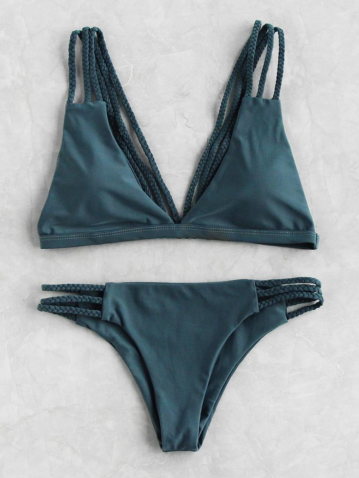 Shop Braided Strap Ladder Cutout Bikini Set online. SheIn offers Braided Strap Ladder Cutout Bikini Set & more to fit your fashionable needs.