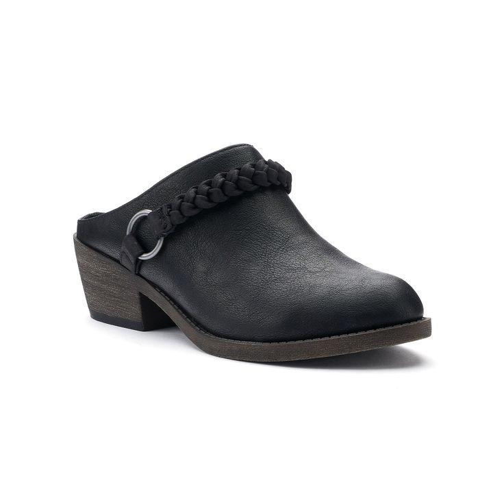 SO® Literally Women's Heeled Clogs, Size: medium (9.5), Oxford