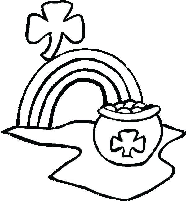 Pot Of Gold Coloring Pages Holiday Coloring Pages Pinterest