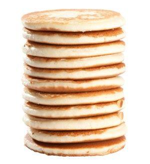 QUINOA PANCAKES - 73 calories per cake 2 grams protein.  Gotta love me some quinoa!.