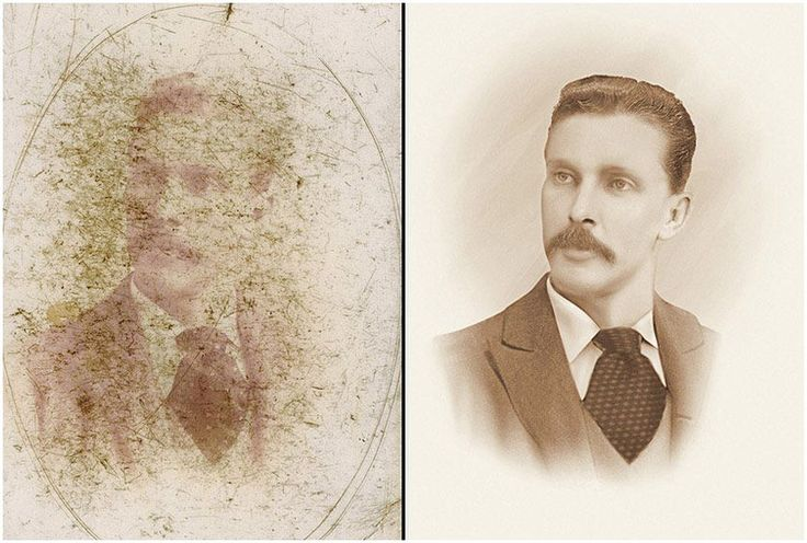 Portrait Restoration Dust and Scratches Removal