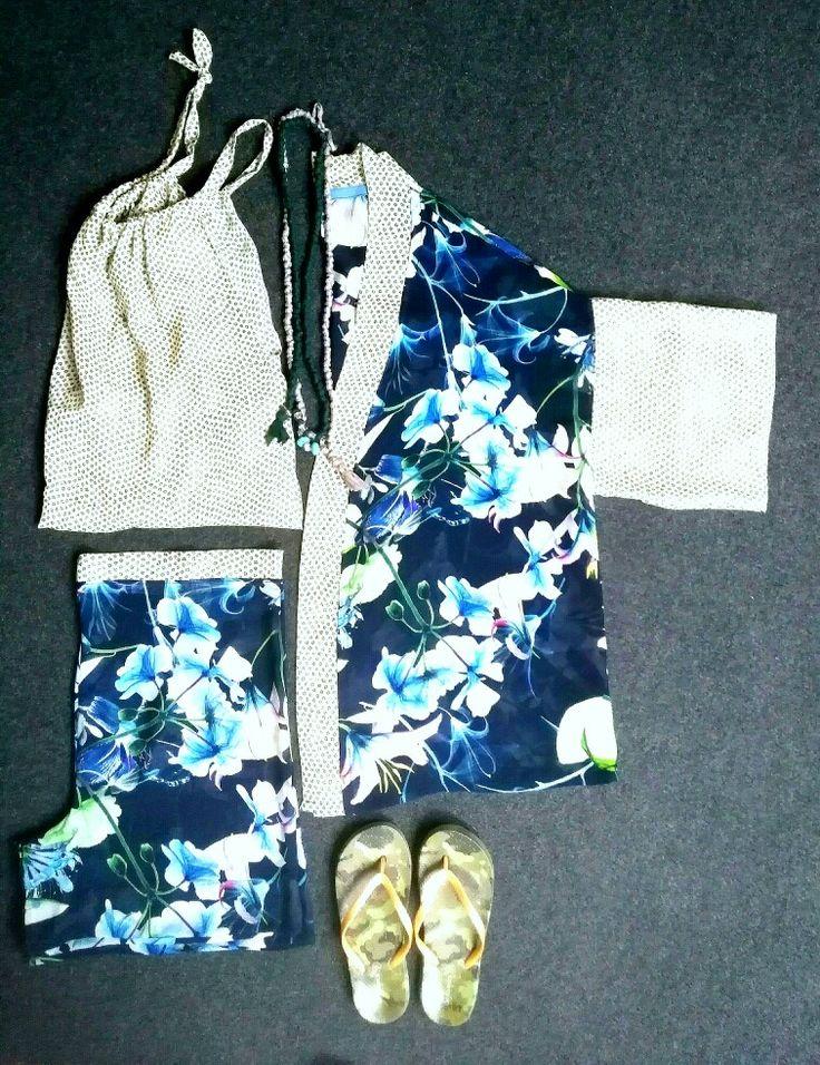 Pijama kimono corto 3 pezzi