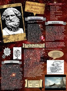 Generally considered the greatest mathematician of antiquity and one of the greatest of all time, Archimedes anticipated modern calculus and analysis by applying concepts of infinitesimals and the method of exhaustion to derive and rigorously prove a range of geometrical theorems, including the area of a circle, the surface area and volume of a sphere, and the area under a parabola. #Glogster #Archimedes