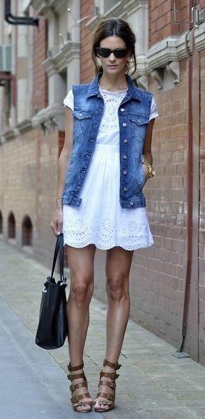 34 outfits con chaleco de mezclilla   Belleza