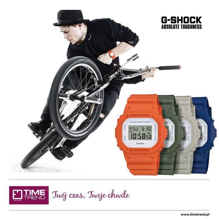 Kultowy model G-Shock DW-5600M. Sprawdź inne kolory na bit.ly/dw5600m  www.timetrend.pl  #gshock #streetwear #moda #styl #skate #zegarek #zegarki #casio #dw5600m #dw5600 #rower #timetrend