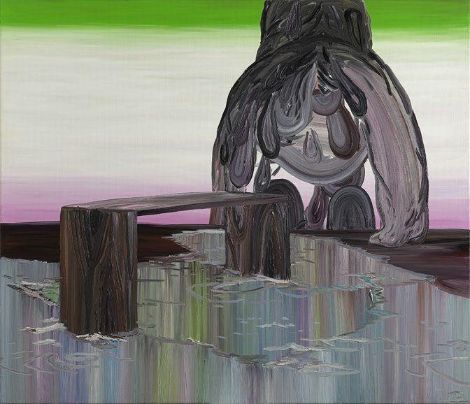 Fie Norsker, Rivers End, 120 x 140 cm, 2008