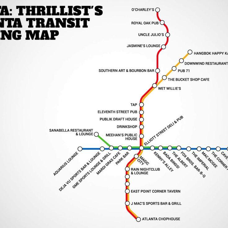 BAR-TA: Atlanta's first transit booze map will take you to drinks