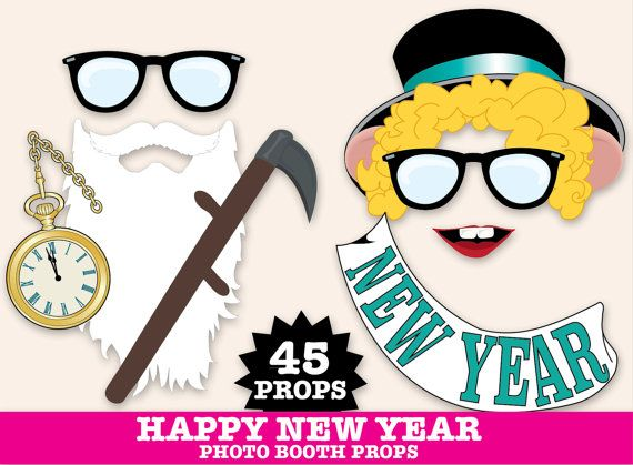 New Years Eve Photo Booth Props New Years Eve por SimplyEverydayMe