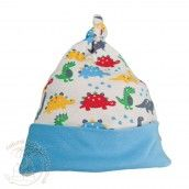 Frugi Knotted Hat - Dino Parade http://www.naturalbabyshower.co.uk/shop-by-brand/frugi.html