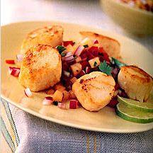 Seared Scallops Teriyaki - Click on image for recipe