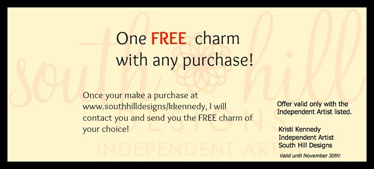 November Promotion!! Free charm with purchase!