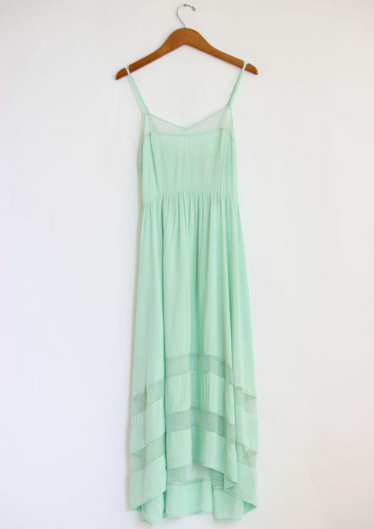 Mint Green Lace Cut Out Dress