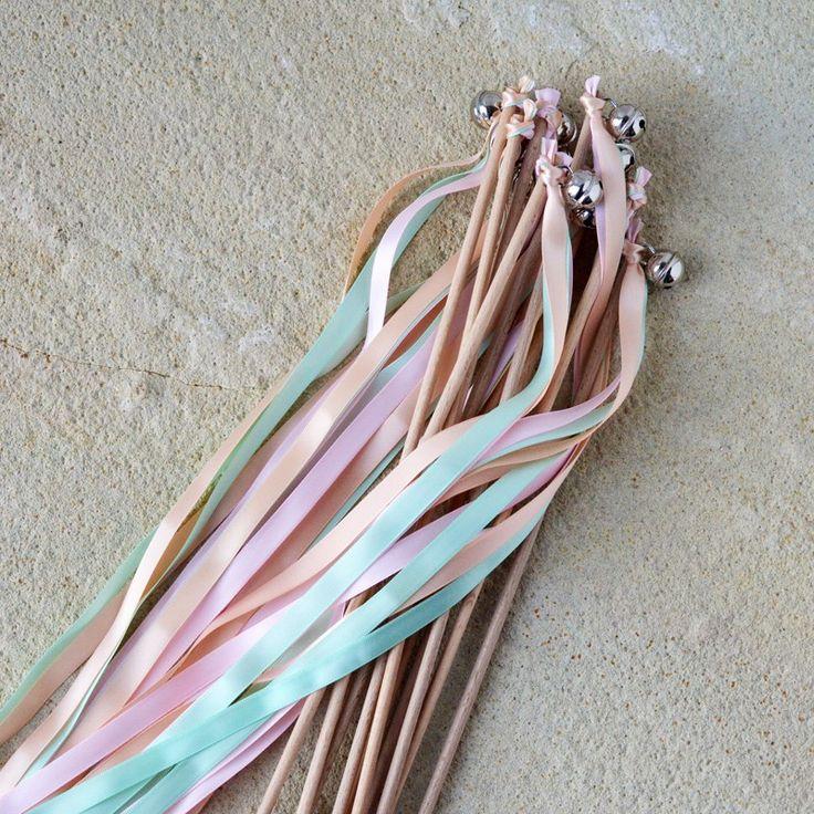 Best 25 wedding wands ideas on pinterest wedding ribbon for Ribbon wands