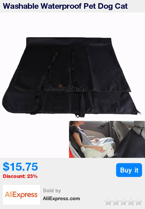Washable Waterproof Pet Dog Cat Rear Back Seat Cover for Car Vehicle Black * Pub Date: 04:31 Apr 29 2017
