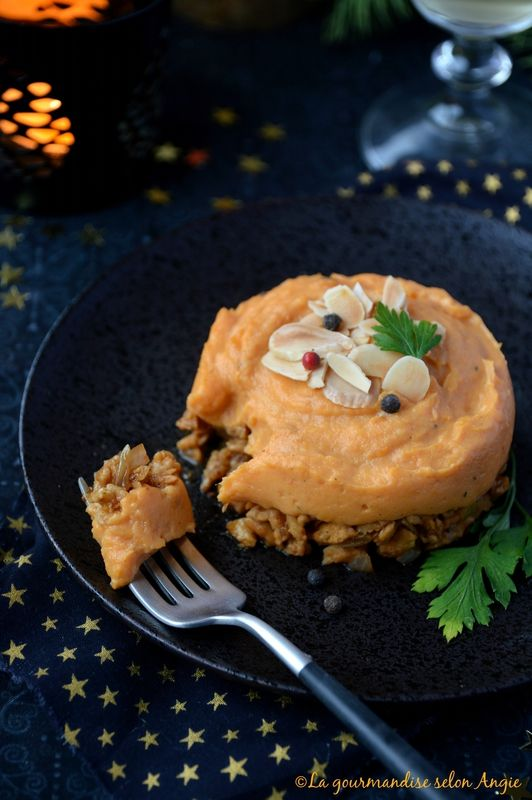 parmentier de protéines de soja patate douce vanille noël vegan 1