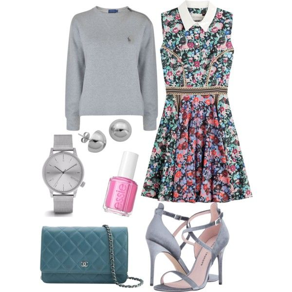 A fashion look from May 2017 by somolicek featuring Mary Katrantzou, Polo Ralph Lauren, Chinese Laundry, Chanel, Komono, Lord & Taylor and Essie