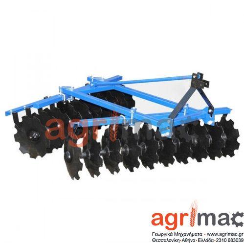 Δισκοσβάρνα τρακτέρ 1,9m τύπου λ Πλάτος εργασίας 2000 mm,  Βάθος εργασίας των 120-140 mm Αριθμός δίσκων  22 Διαστάσεις  2105/2100/1278 mm Βάθος εργασίας 200 mm, Βάρος – 300 kg Συνιστώμενη ισχύς τρακτέρ – από 25 έως 35   hp.