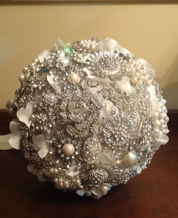 Express Yourself Brooch Bouquet Custom Grand Size by TheFlowerCo, $150.00
