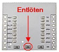 ESP8266 ESP-07 Adapter Spannungsregler