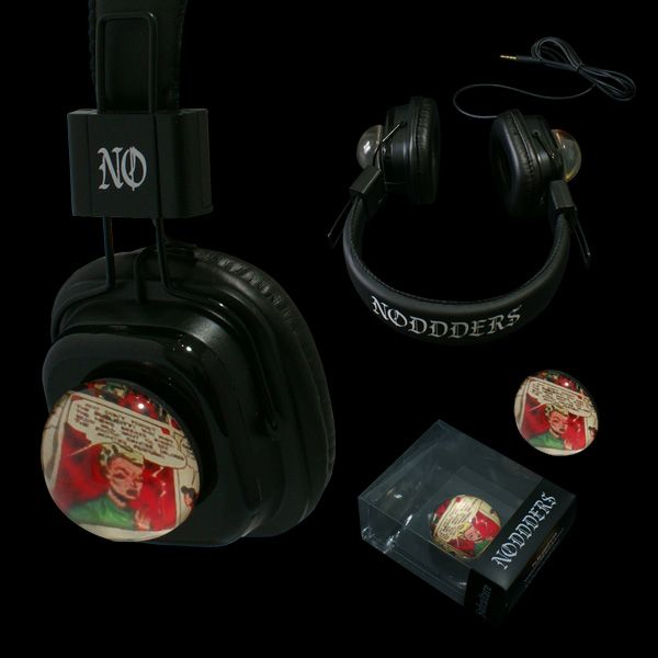 Headphones with attachable glass domes - Limited edition  --------- #goth #gothic #cybergothic #lollita #style #newstyle #vampire #horror #creepy #dark #punk #steampunk #vintage - SHIPPING WORLDWIDE  #red #subculture #unique #rare #limitededition #underground #comics #collection #music #noddders #headphones
