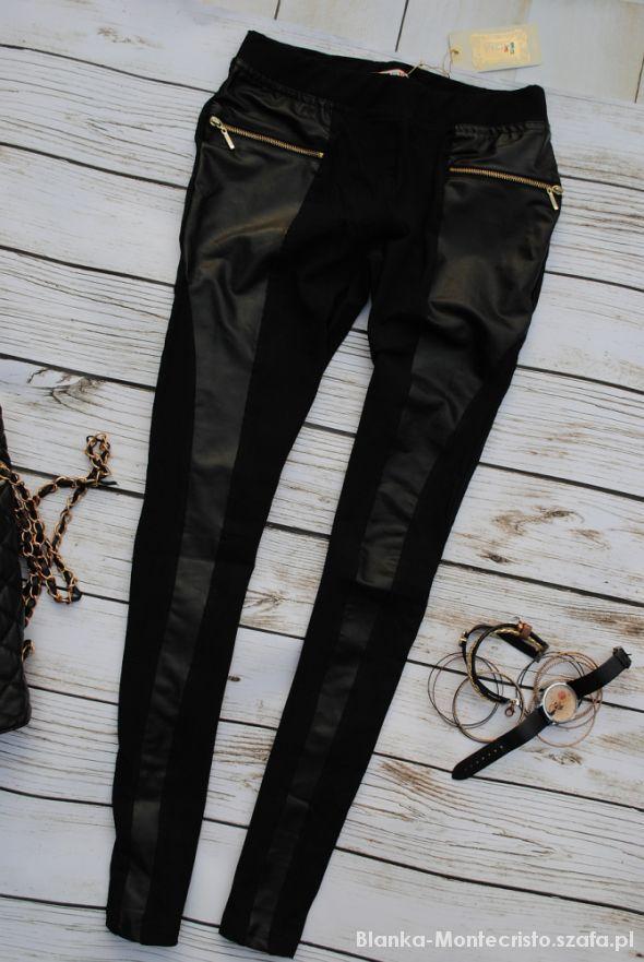 czarne legginsy skorka zlote zamki XL   Cena: 32,00 zł  #leginsy #czarnelegginsy #nowalegginsy