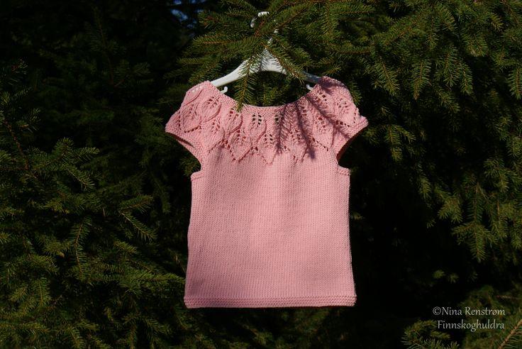 Lys rosa Bella topp i Cotton Light