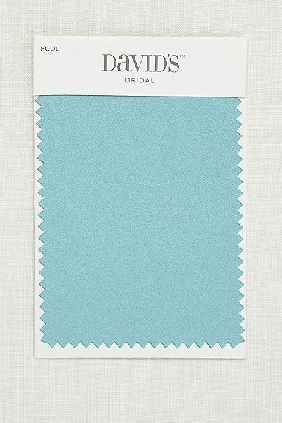 SMLSWATCHPOOL Pool Satin Fabric Swatch Style @davidsbridal  Color 1 for our wedding.