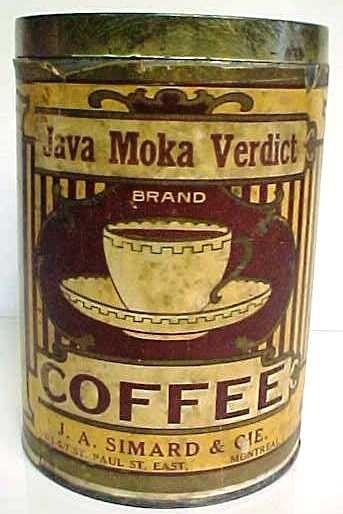 Vintage Java Moka Verdict Tin