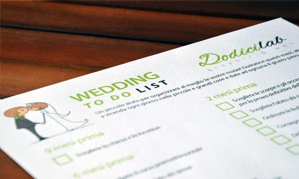Scaricate gratuitamente la vostra wedding to do list per organizzare al meglio il vostro matrimonio!