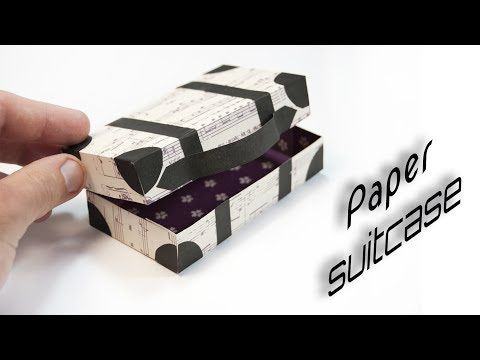 Diy Paper Suitcase Paper Crafts Youtube Dollhouse Pinterest