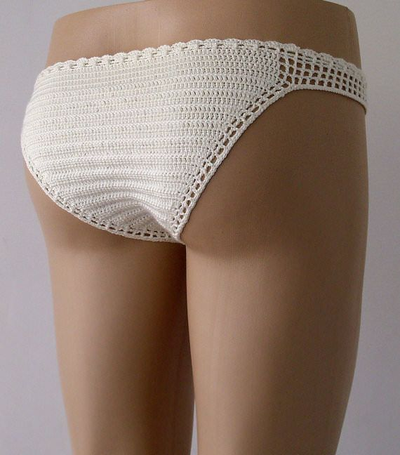 Crochet cream bikini bottom, women bikini bottom, full coverage bottom, women swimwear, gifts for her  #Beachwear, #Bikini, #Crochet, #Swimwear  Womens 2017 Fashion #bikini #swimsuit #swimwear #beachwear #bikinitop #summertop #crochetbikini Ladies #handmadebikini #brazilianbikini #sexybikini #trianglebikini #crochetbathingsuit #crochetbikiniset #crochetswimwear China Crochet Bikini Swimwear Beachwear Bathing Suit|Set Factory/Manufacturer