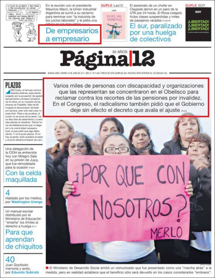 Mauricio Macri quita las pensiones a personas con discapacidad, Argentina, Protección social, Derechos civiles, Igualda, Fraternidad
