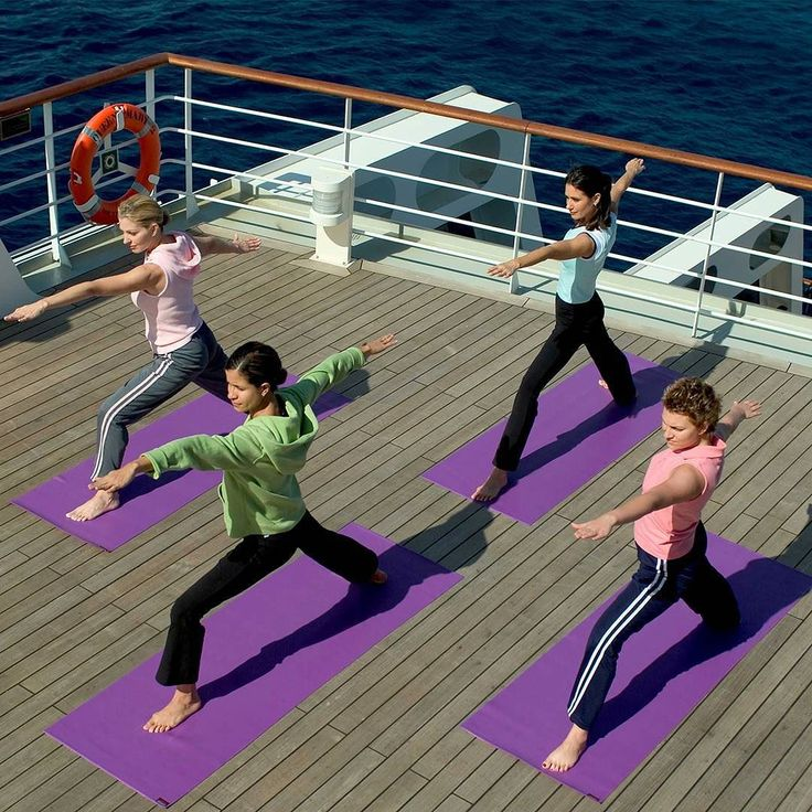 Have you experienced the revitalising effects of yoga on the top deck? #cunardline by cunardline
