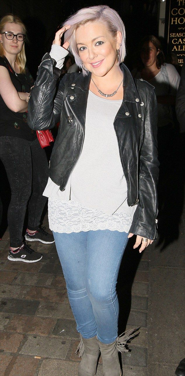 Sheridan Smith,35, debuted some new shimmering lilac locks on Saturday as she left the Savoy Theatre following another successful Funny Girl performance