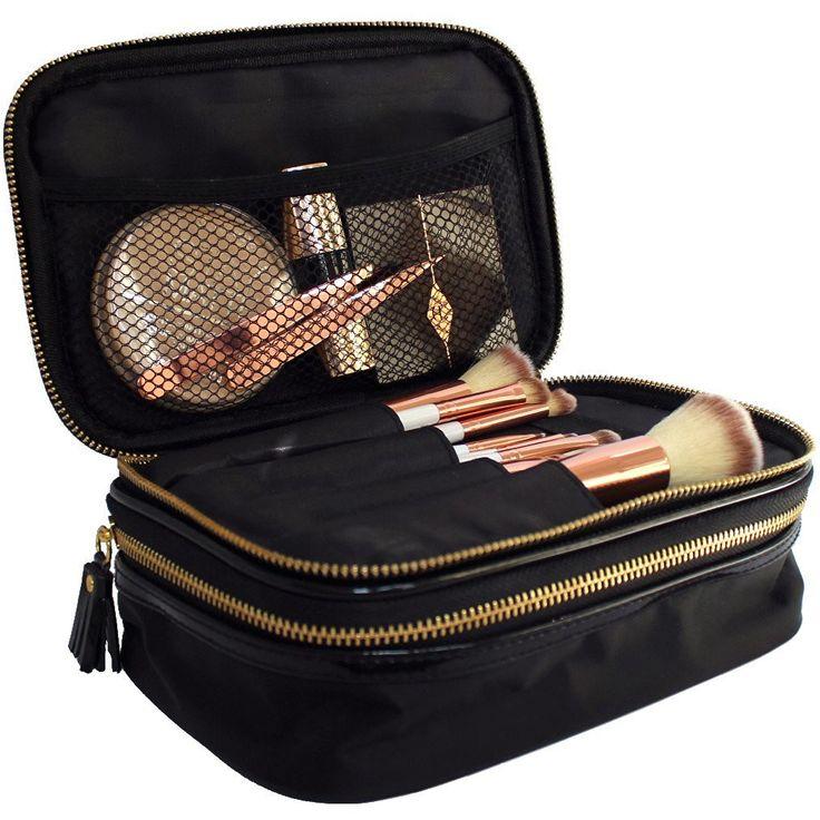 Makeup Bag Organiser – Black & Gold