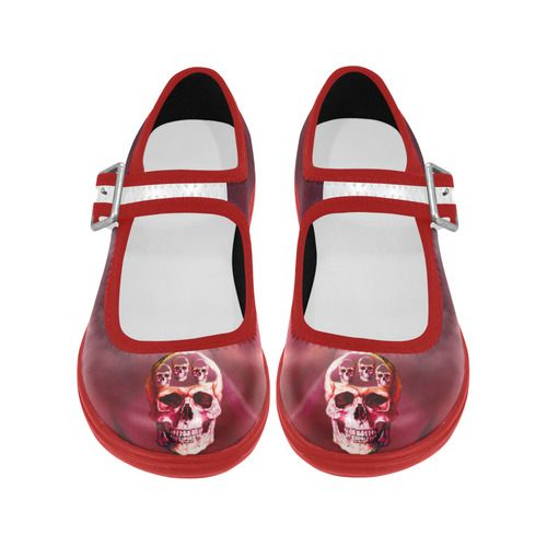 Funny Skull Virgo Instep Deep Mouth Shoes