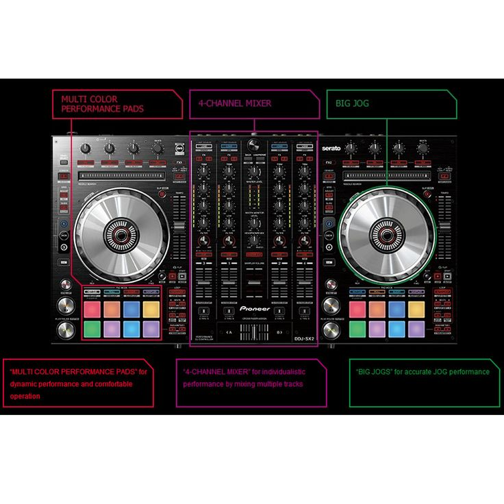 Pioneer DDJ-SX 2 4 Channel DJ Controller for Serato and Flip