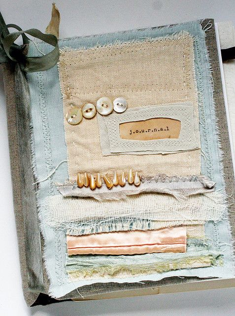 Art Quilt Journal (fabric strips) by Rebecca Sower, via Flickr