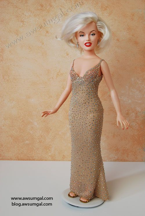 awsumgal ooak Happy Birthday Mr President Marilyn Monroe doll 1